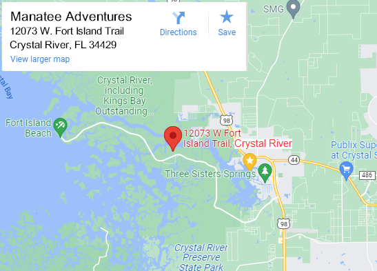 Three Sisters Springs Florida Map.Swim With Manatees Crystal River Fl Manatee Tours